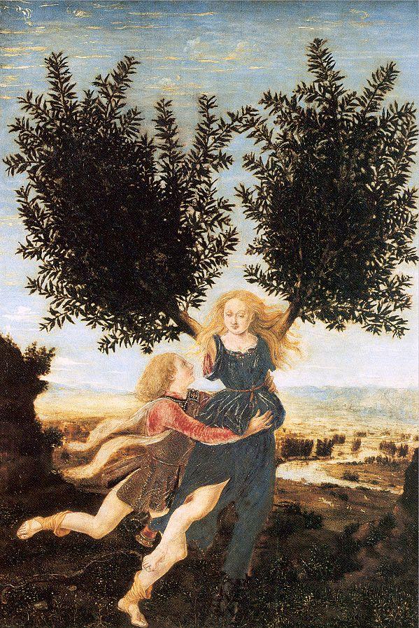 Apolo y Daphne (Antonio del Pollaiuolo (ca. 1470-1480)